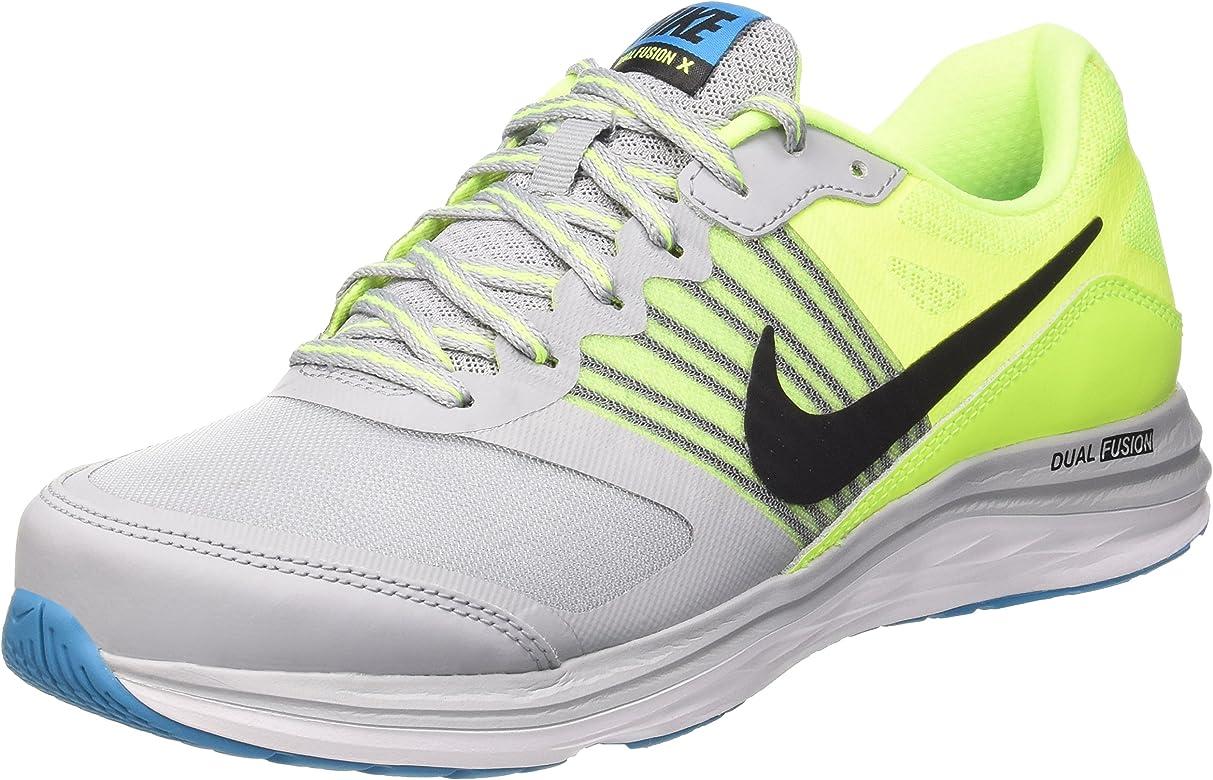 Nike Dual Fusion X, Zapatillas para Hombre, Gris (Wolf Grey/Black Volt Bl Lagoon), 43 EU: Amazon.es: Zapatos y complementos