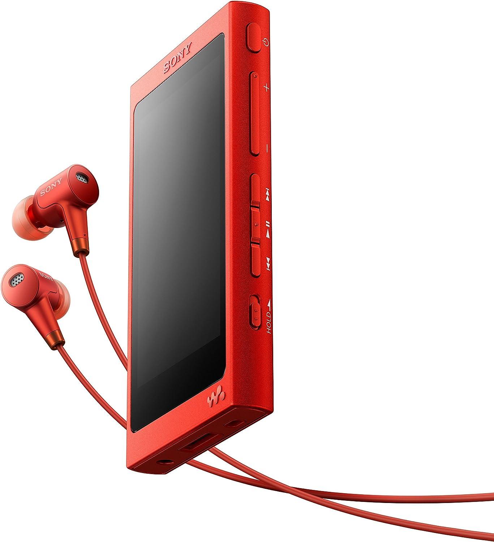 Sony Nw A35hn High Resolution Walkman 16gb Digital Noise Cancelling Bluetooth Nfc Bis Zu 45 Stunden Laufzeit Dsee Hx Upscale Ldac Incl High Resolution Nc In Ear Kopfhörer Rot Heimkino Tv Video
