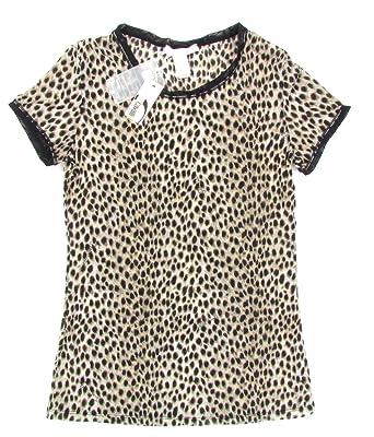 Just Cavalli - Camiseta - Animal Print - Cuello redondo - para mujer marrón 44: Amazon.es: Ropa y accesorios