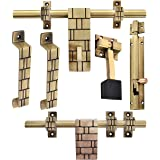 Klaxon Glorious 3 Brass Door Accessories Kit (Antique Finish)