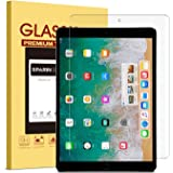 iPad Pro 10.5 Screen Protector, SPARIN Tempered Glass Screen Protector for iPad Pro 10.5 Inch with [No Bubbles Installation] [Ultra Clear] [High Definition] [9H Hardness] [0.3mm / 2.5D]