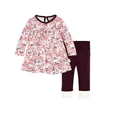 5bf8062ad Amazon.com: Burt's Bees Baby - Baby Girls Top and Pant Set, Tunic ...