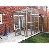 4wire Catio/House Cat Leanto 8ft x 8ft x 8ft with ladders shelves etc