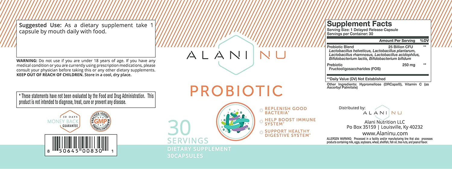 Amazon.com: Alani Nu Probiotic Capsules: Health & Personal Care