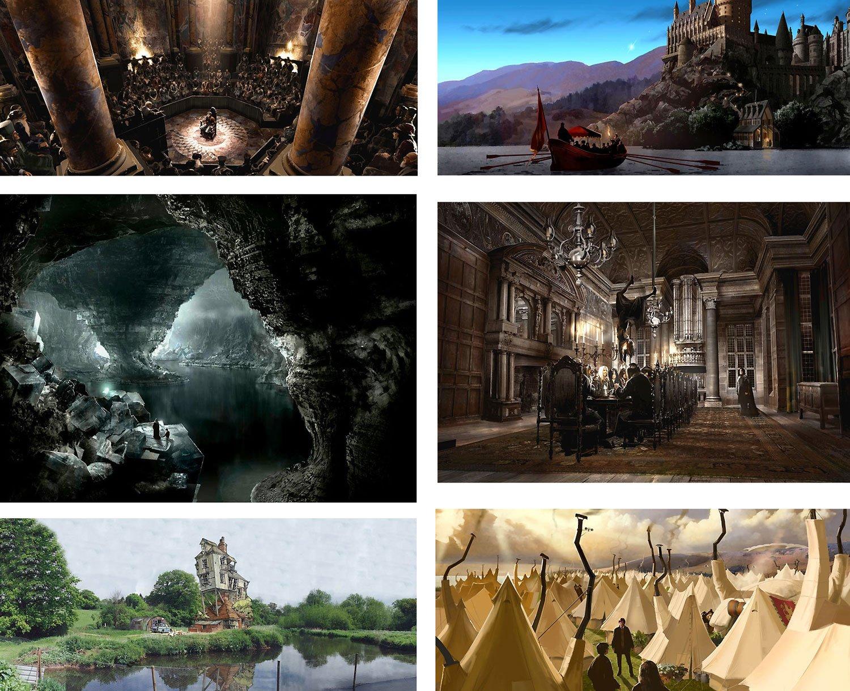 Amazon com: The Art of Harry Potter Portfolio - Matched Set by