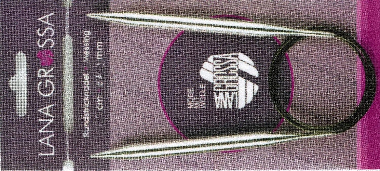 Wolle Kreativ 40 cm//4,5 mm Rundstricknadel Messing Lana Grossa