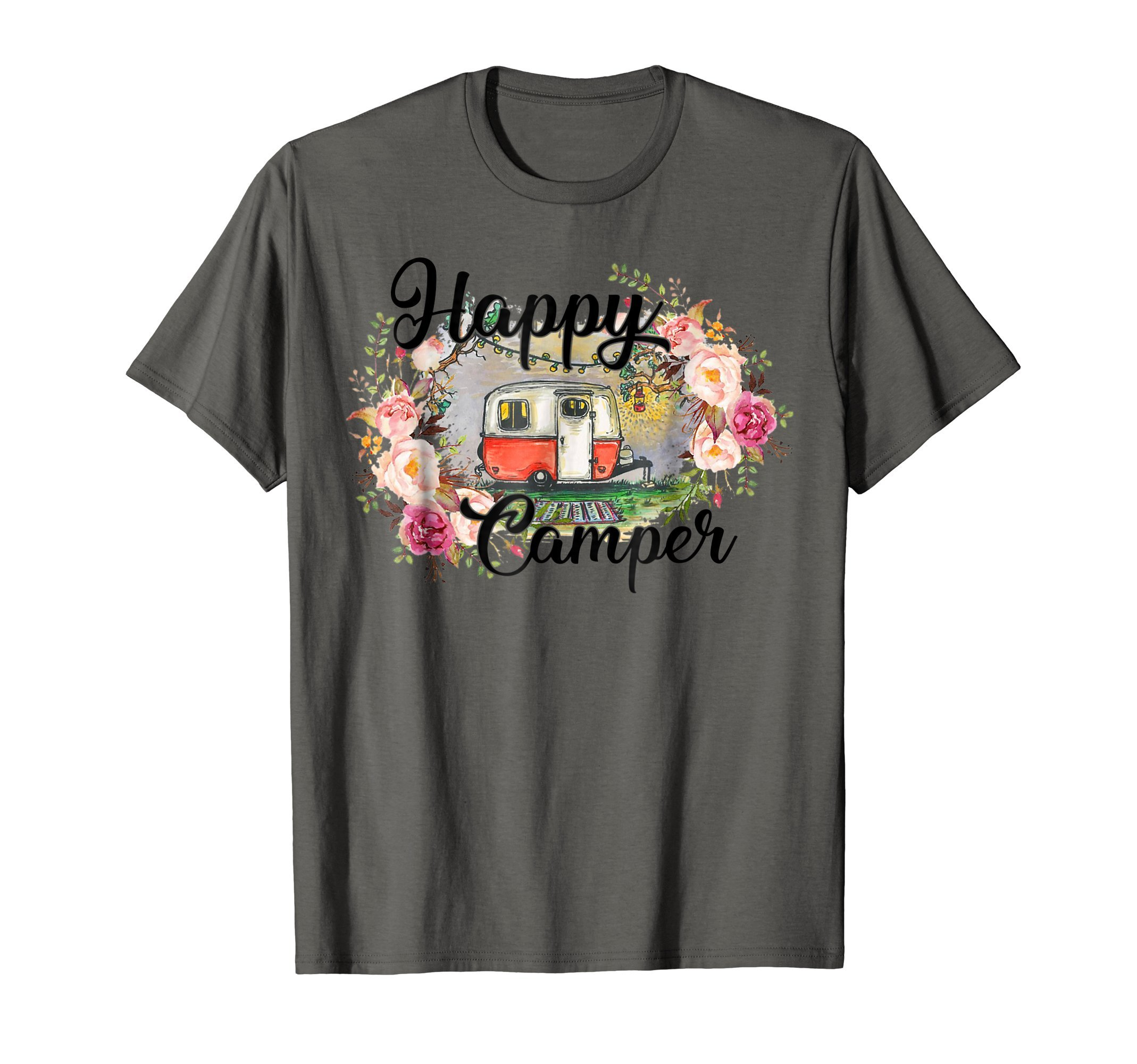 Happy camper vintage shirt - funny camping shirt gifts by loves camping ever shirts for men women (Image #1)
