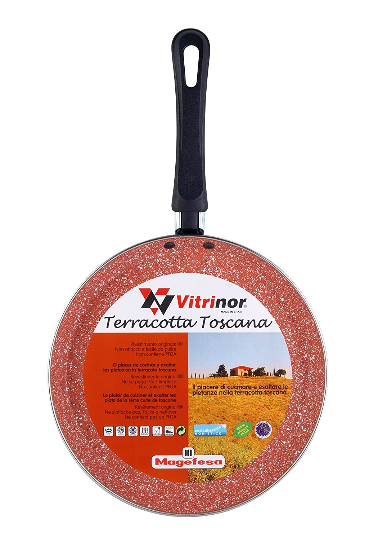 Magefesa Toscana Terracota Crepier, Acero, Borgoña, Centimeters: Amazon.es: Hogar