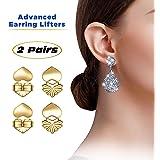 Love Lifters Premium Quality Earring Lifters   GIFT BOX SET   Back Lobe Ear Support   2-Pair Set of Piercing Ear Lobe…