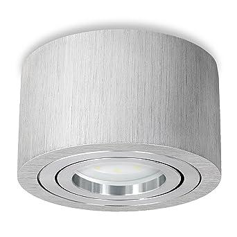 mit LED-Modul 5W neutralweiss DIMMBAR schwenkbar Flacher Aufbauspot Alu weiß