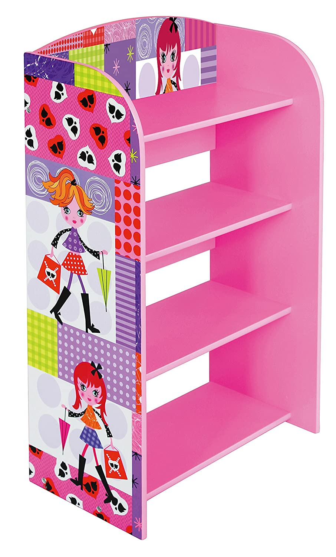 Multicolore Libreria per Bambina con 4 Ripiani alla Moda Liberty House Toys in Legno