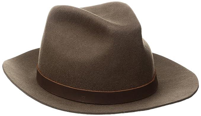 c8dd07a9 Brixton Men's Hopkins Fedora, Brown, X-Small: Amazon.ca: Clothing ...