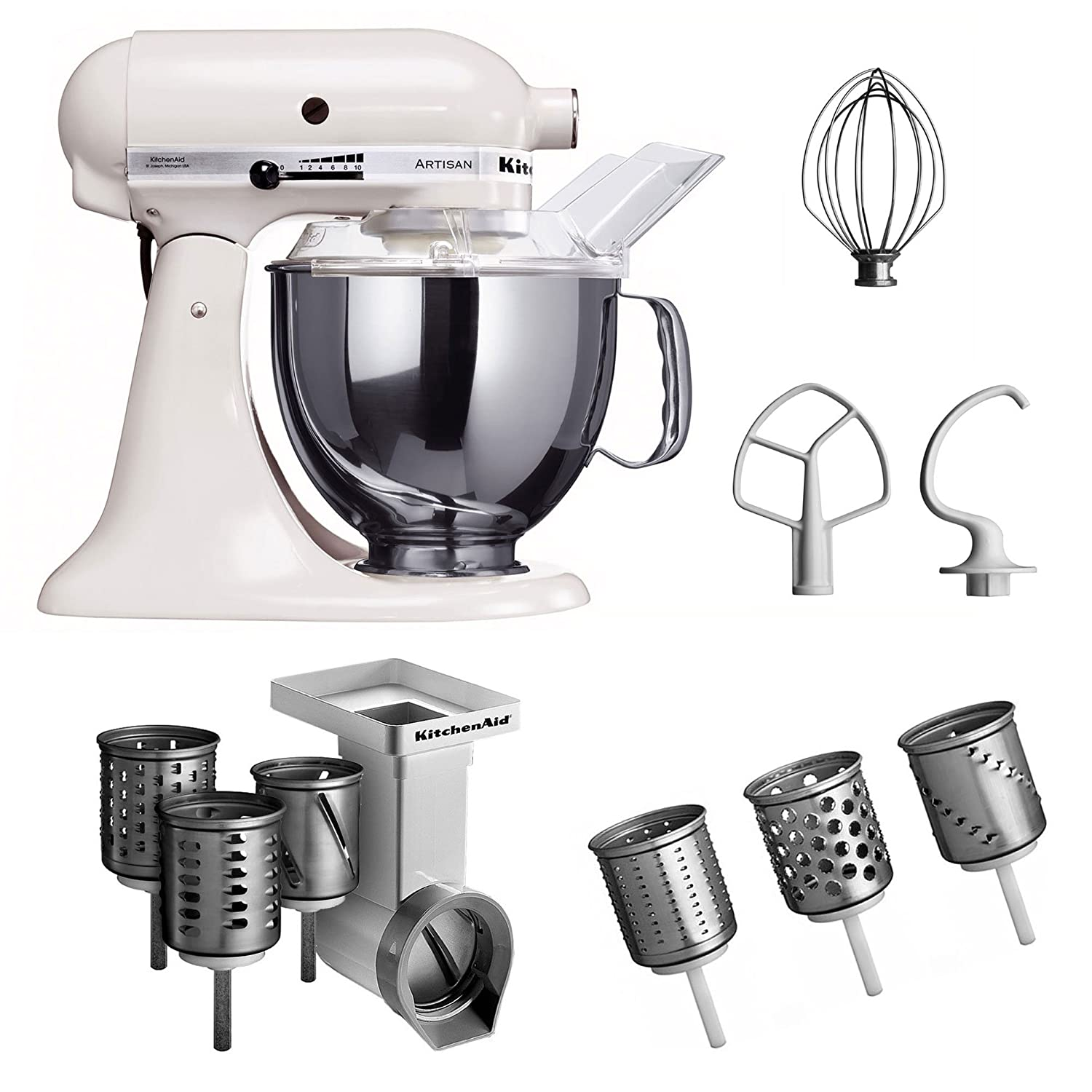 Amazon.de: KitchenAid Küchenmaschine Artisan weiß 5KSM150PSEWH