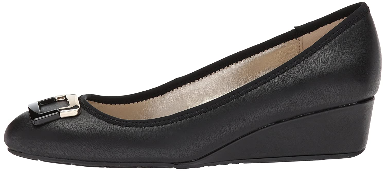 Bandolino Women's Tad Wedge Pump Leather B0721TPPB8 7 B(M) US|Black Leather Pump ce64b1