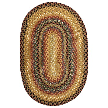 homespice decor peppercorn cotton braided rugs 2 x 3 oval - Homespice Decor