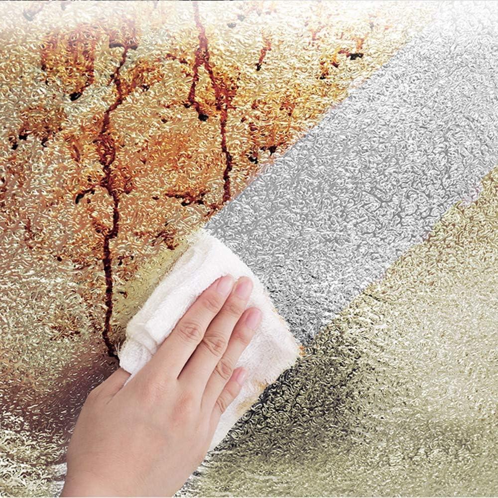 Autocollants de Papier Peint et de Cuisine en Papier argent/é Autocollants de Papier daluminium de Cuisine Auto-adh/ésifs Autocollant Turbobm Autocollants de Papier Peint de dosseret de Cuisine