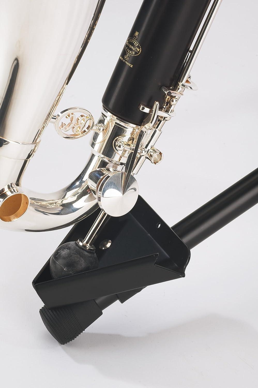 K /& M 15060 Support pour clarinette basse noir