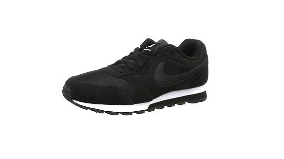 Nike MD Runner 2, Zapatillas de Running Mujer, Negro (Black / Black-White), 43 EU: Amazon.es: Zapatos y complementos