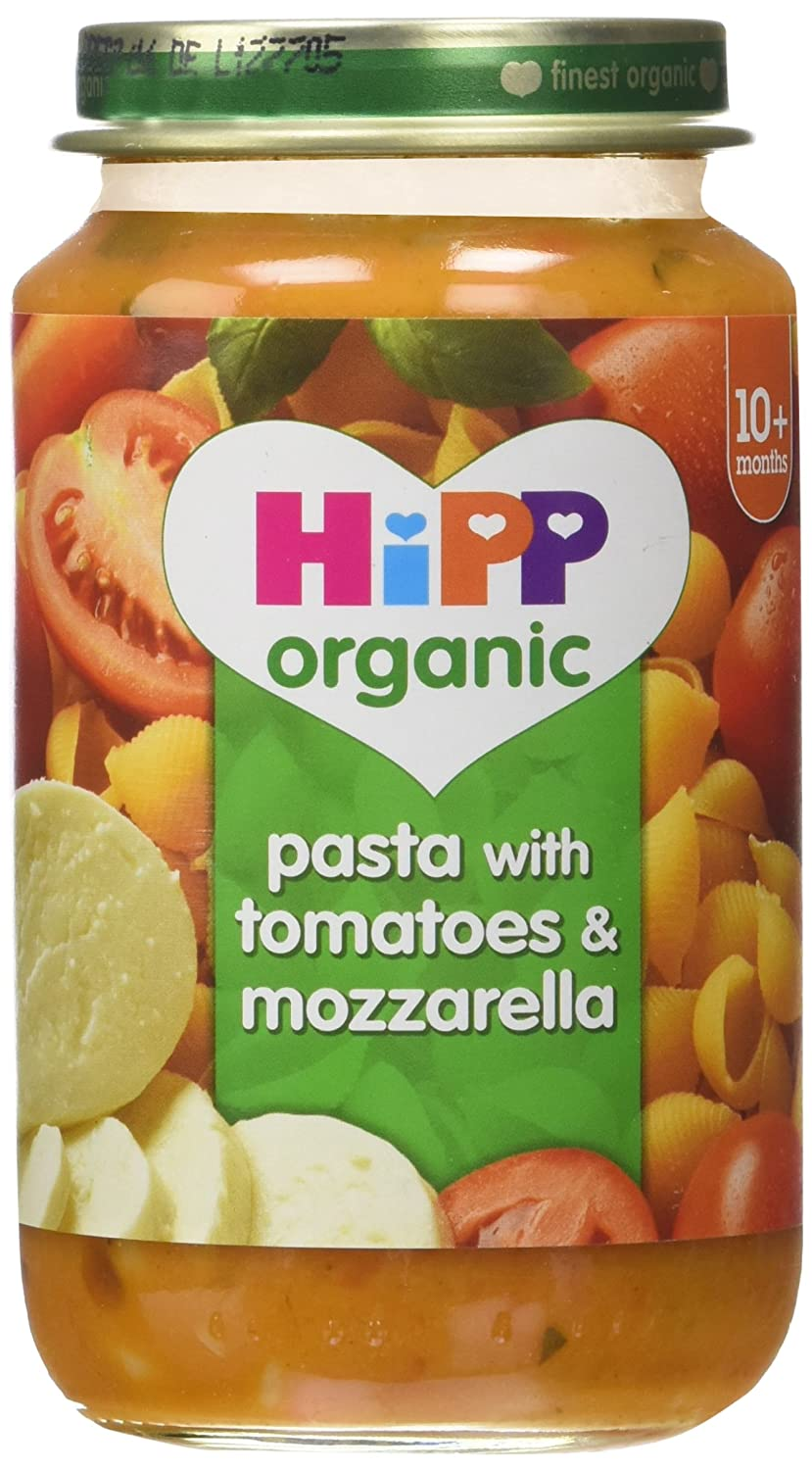 HiPP Organic Pasta with Tomatoes and Mozzarella 220 g (Pack of 6) GB6400.44