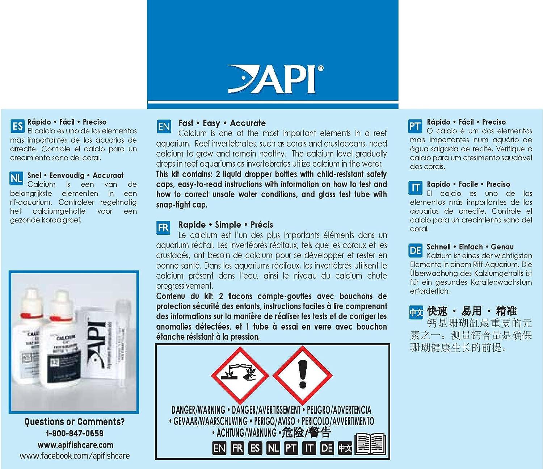 API Aquarium Saltwater Calcium Test Kit Amazon Pet Supplies
