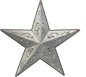 GALVANIZED LACY METAL BARN STAR 18