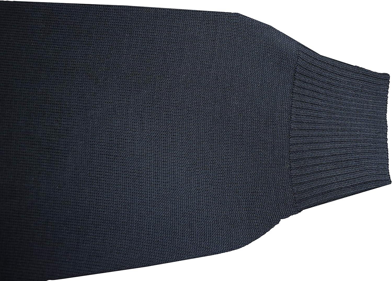 STACY ADAMS Mens Quarter Zipped Pullover Winter Sweater