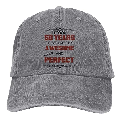 Amazon.com   ACD TV Funny Hat Baseball Cap 50 Years Awesome Classic ... 10c2a37a70a