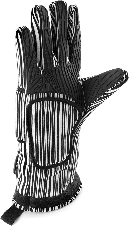 Lacor - 60062 - Par de Guantes Universal de Algodón y Silicona 32 cm - Negro: Amazon.es: Hogar