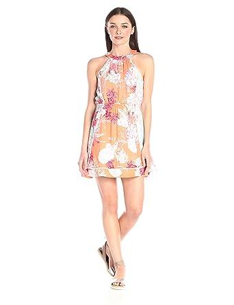 8b70e67f40bed MINKPINK Women's Back Yard Bliss Spliced Print Dress at Amazon Women's  Clothing store:
