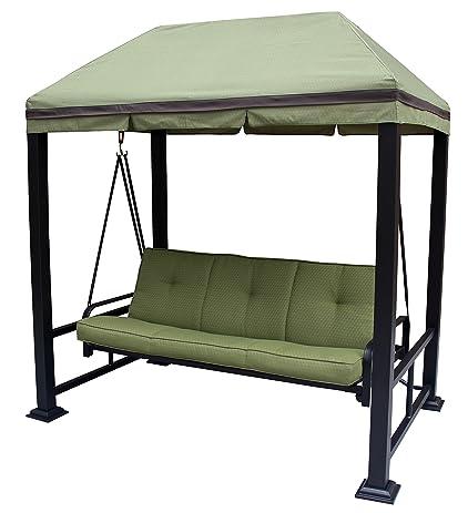 apollo outdoor designs sc k 454gsd 3 person gazebo futon swing with cushion amazon     apollo outdoor designs sc k 454gsd 3 person gazebo      rh   amazon