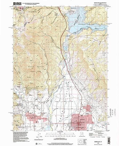 Amazon Com Yellowmaps Heber City Ut Topo Map 1 24000 Scale 7 5 X