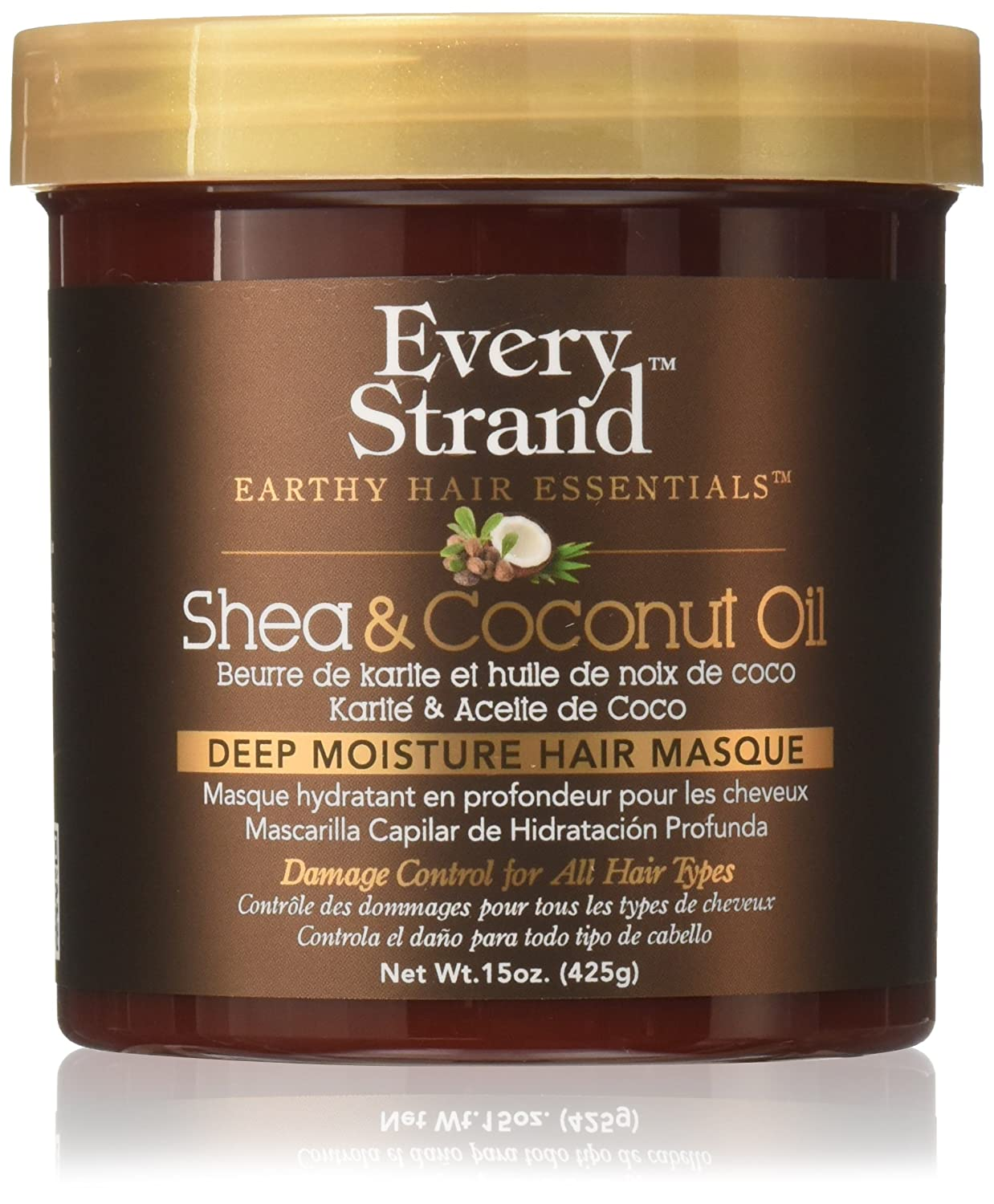 Every Strand Shea and Coconut Oil Deep Hair Masque, 15 Ounce Atlas Ethnic