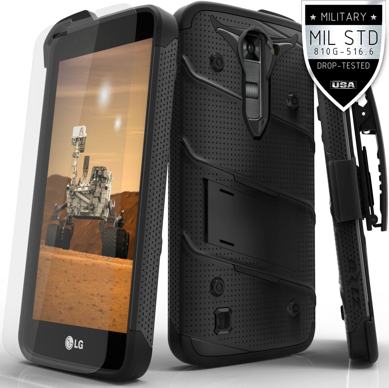 Zizo Funda para LG K7 / LG Tribute 5 LS675 / LG Escape 3, Protector de Pantalla de Cristal Templado Curvado de 3 m 9H: Amazon.es: Electrónica