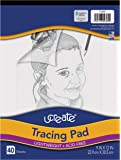 """Pacon UCreate Tracing Pad, White, 9"""" x 12"""", 40 Sheets"""