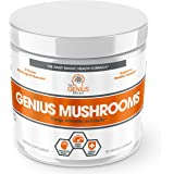 Genius Mushroom – Lions Mane, Cordyceps and Reishi – Immune System Booster & Nootropic Brain Supplement – Wellness Formula for Natural Energy, Stress Relief, Memory & Liver Support, 90 Veggie Pills