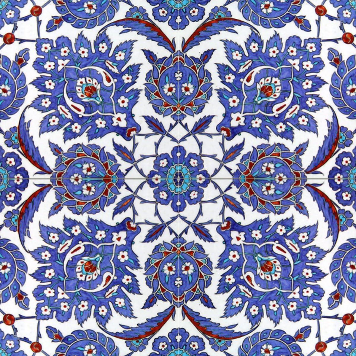 - Turkish Pattern 16th Century Design Tile Mural Kitchen Bathroom