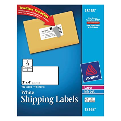 Amazon Avery Shipping Labels For Laser And Inkjet Printers