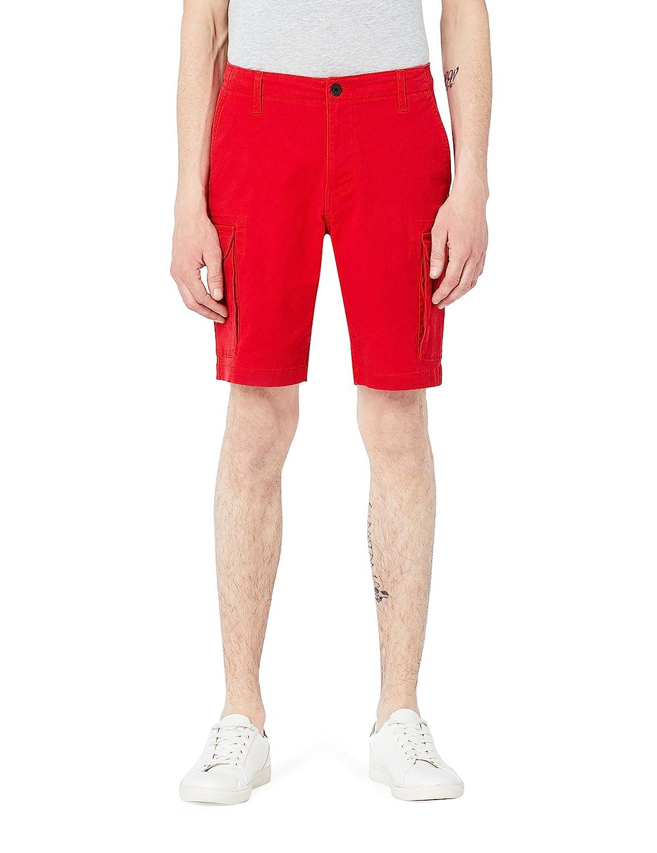 MERAKI Mens Stretch Slim Fit Cargo Shorts