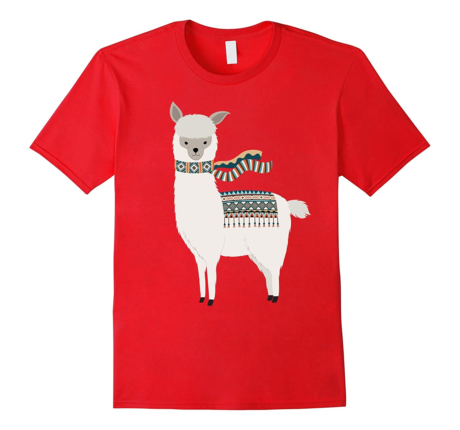 Cute Cartoon Animal Art | Llama & Alpaca Lover T-Shirt Gift-BN