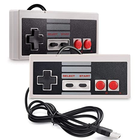 Amazon.com: 2 unidades NES Classic Controller, suily PC USB ...