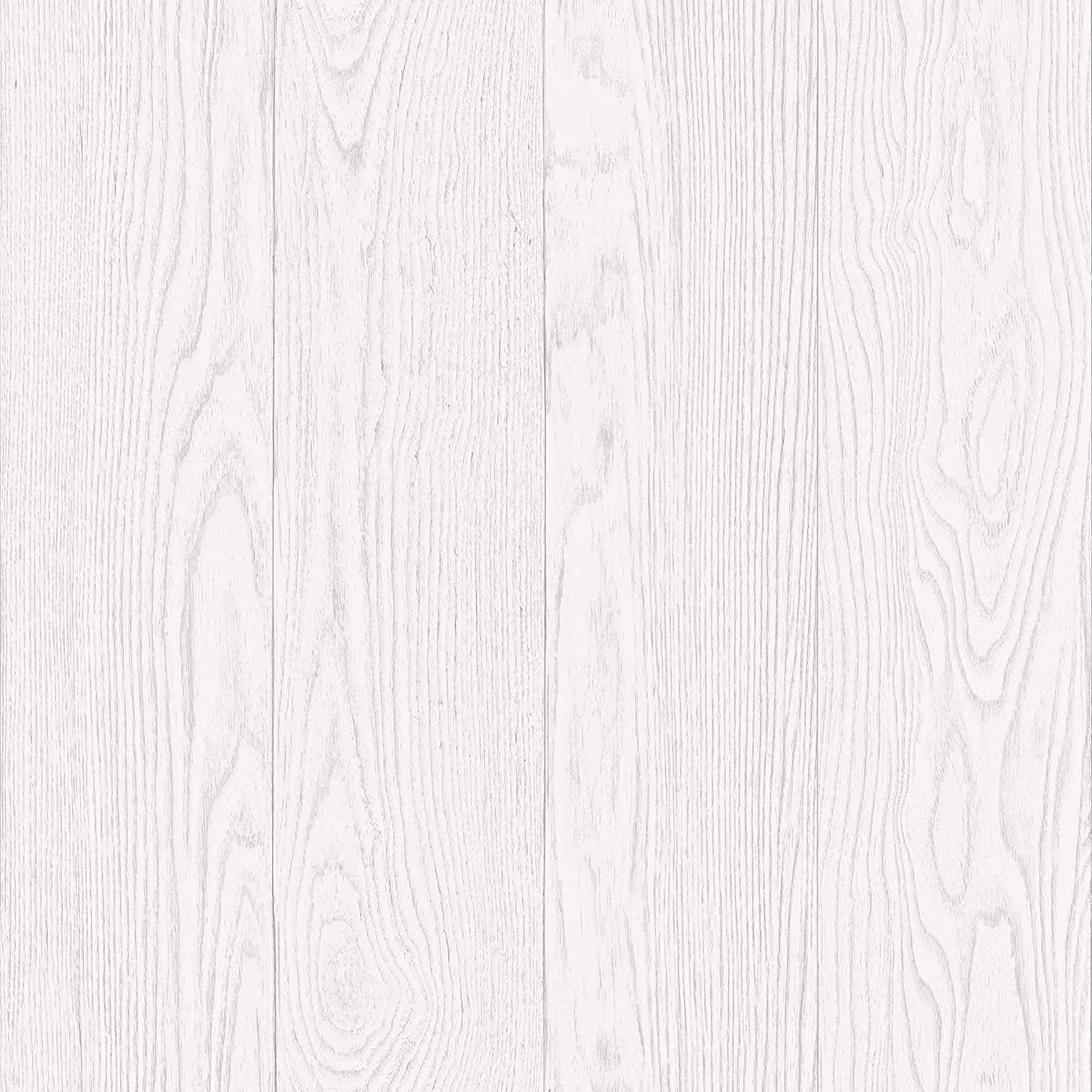 In Home NH3055 Timber Peel and Stick Wallpaper, White & Off-White