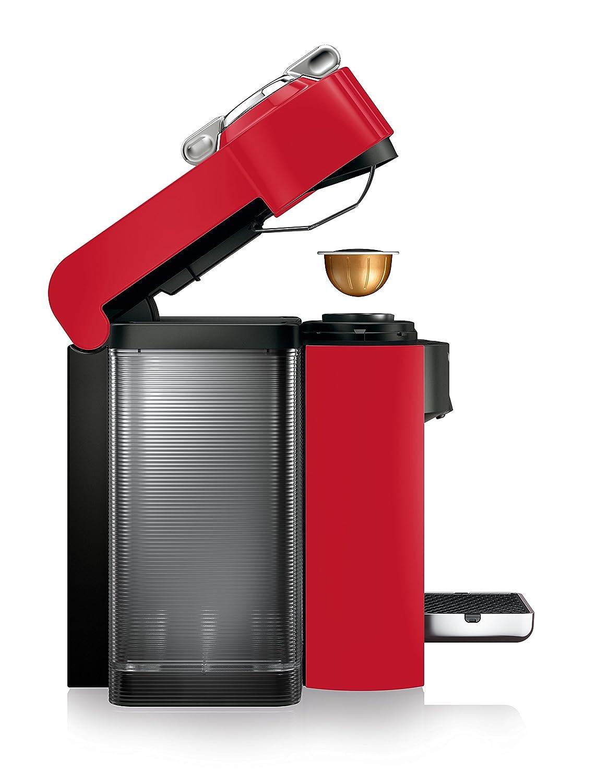 Nespresso Vertuo Evoluo Coffee and Espresso Machine by De Longhi, Red
