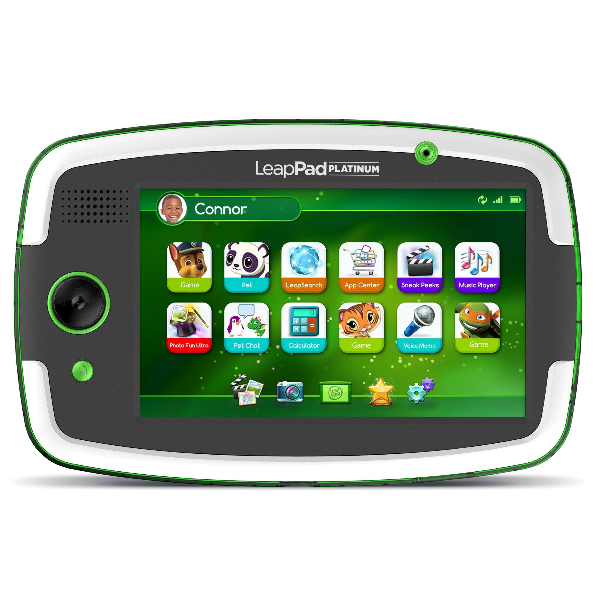 LeapFrog LeapPad Platinum Kids Learning Tablet, Green by LeapFrog. (Image #1)