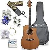 Antonio Giuliani Acoustic Mahogany Guitar Bundle (DN-1) - Dreadnought Guitar with Case