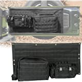 Yoursme Tailgate Bag Case Cover Black Storage Pockets Tool Kit Organizer Detachable Fit for Jeep Wrangler JK JKU 2007…