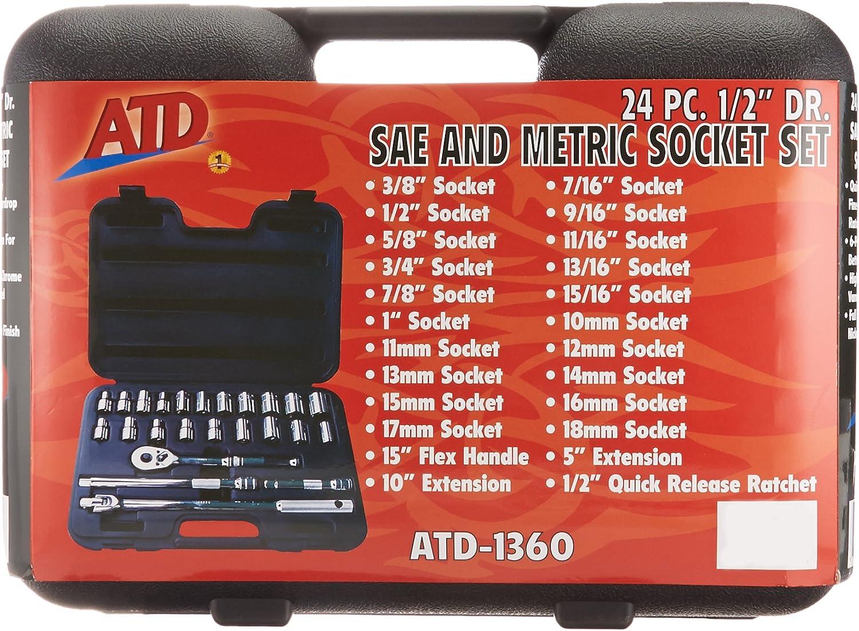 "B000OUZBGY ATD Tools 1360 1/2\"" Drive 6-Point 24-Piece SAE/Metric Socket Set 81zcxW10AqL.SL1500_"