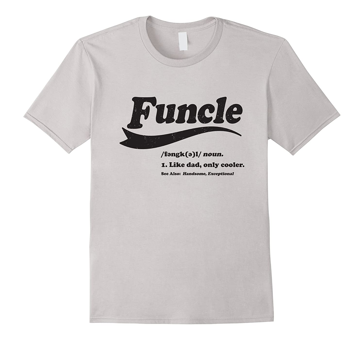 Mens Funcle T-shirt. Gift for the Coolest Uncle-RT