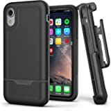 Encased iPhone XR Belt Clip Holster Case, Heavy Duty Protective Cover with Rugged Holster Clip (Rebel Armor Series…