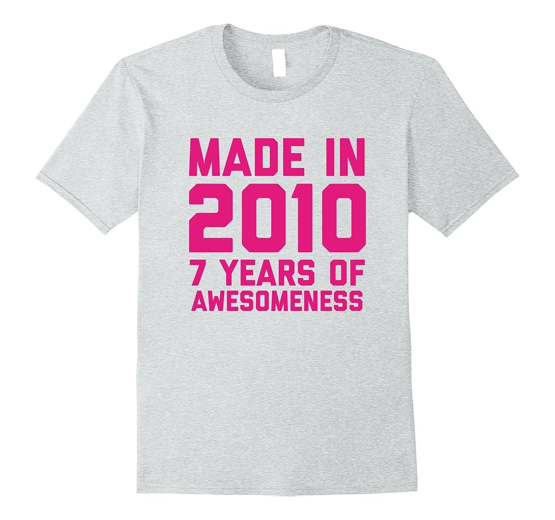 7th Birthday Shirt Gift Age 7 Year Old Girls Tshirt Tee Rose
