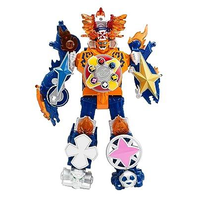Power Rangers Super Ninja Steel Megazord Figure, Blaze Megazord: Toys & Games